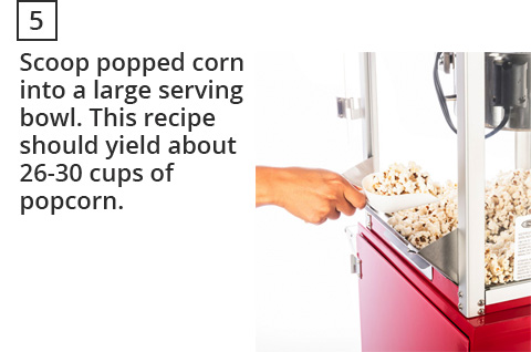 How to make popcorn step 5