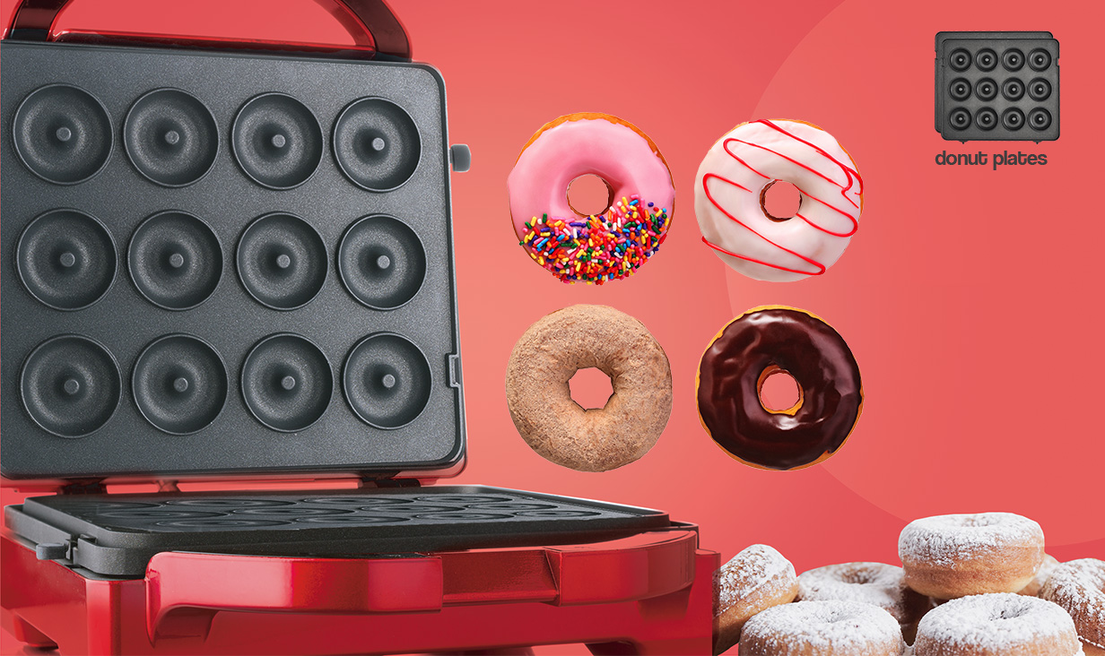 3 in 1 Treat Baker Donut Plates